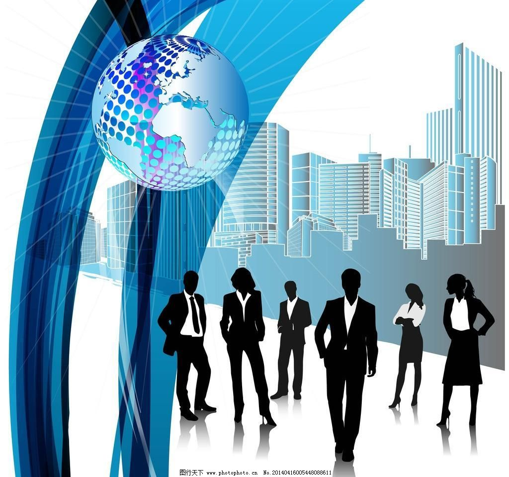 城市建筑 商务人士 手绘 卡通人物 职业人士 上班族 职业女性 成功
