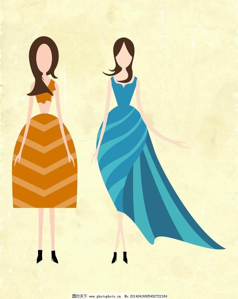 漂亮的古装裙子手绘