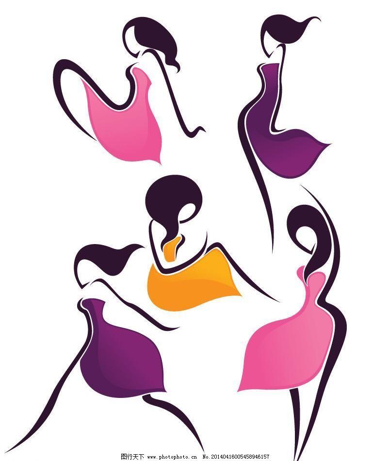 eps 插画人物 动漫人物 发型 妇女女性 卡通美女 美女 女人 女性 女性