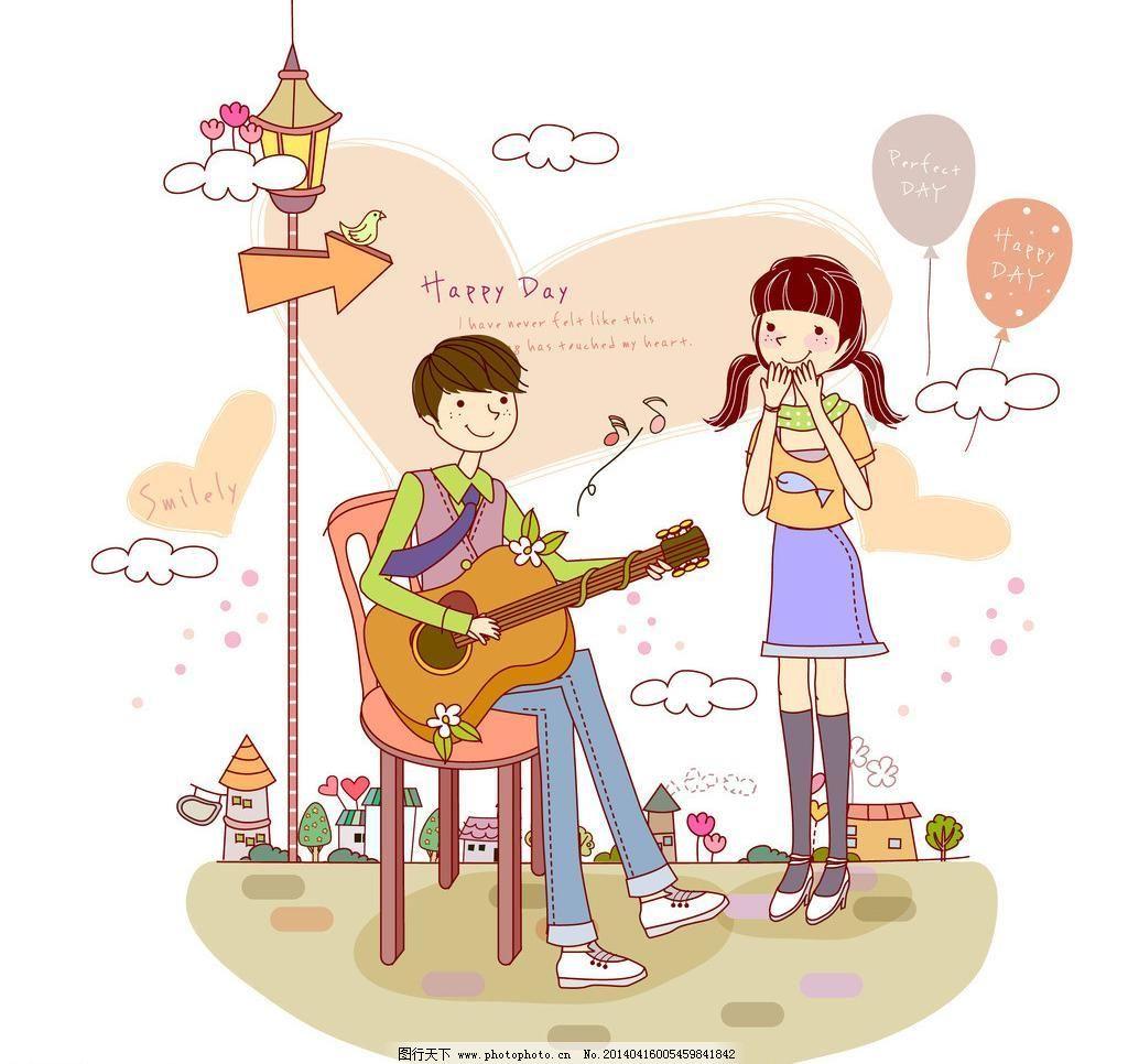 给女生弹吉他的男生图片