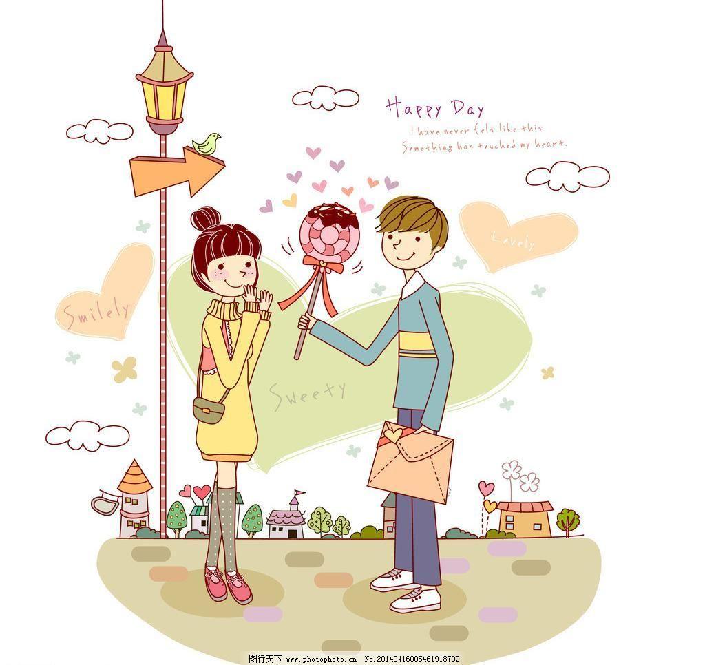 甜蜜 友情 爱情 亲情 卡通情侣 梦幻情侣 人物卡通 卡通壁纸 韩国矢