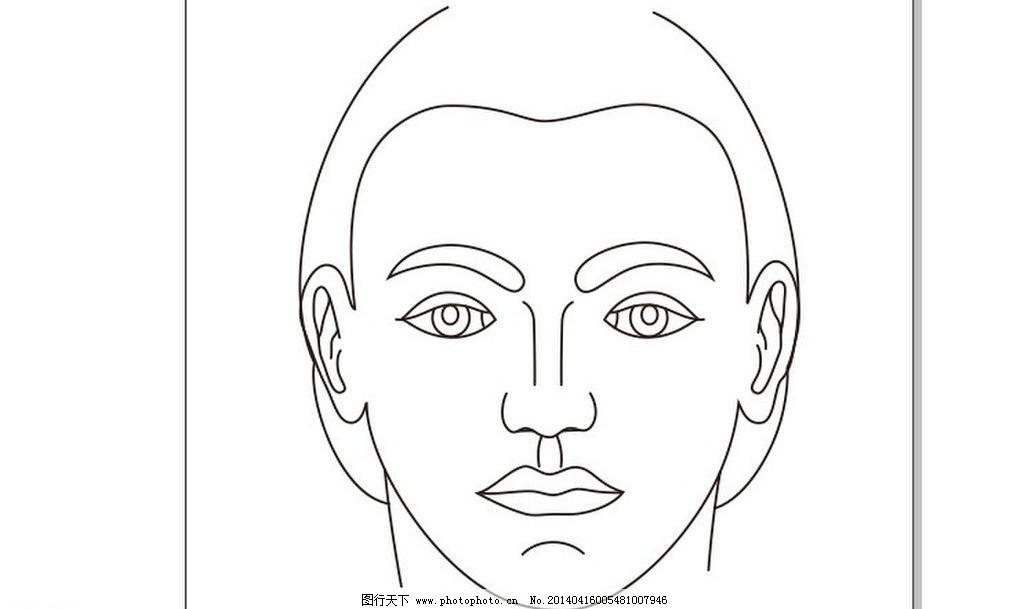 手绘人脸黑白装饰画