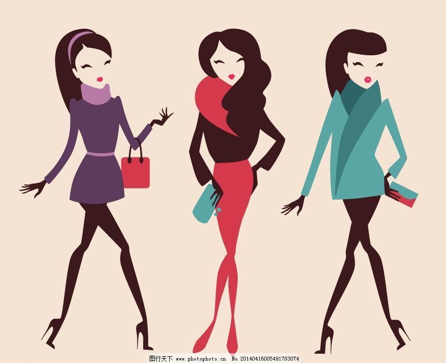 美少女 性感美女 女子 手绘 小女孩 服装设计 素描 美丽 浪漫 时尚