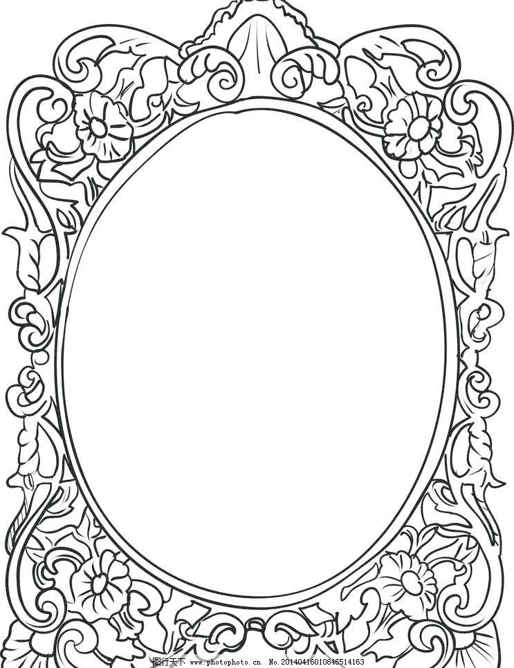 手绘 手绘花纹 精美花纹 手绘花边 矢量 边框主题 边框相框 底纹边框