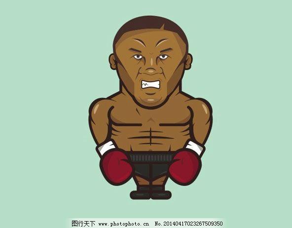 卡通人物 cdr 拳击手 矢量图 不开心 生气 职业人物 矢量人物 矢量