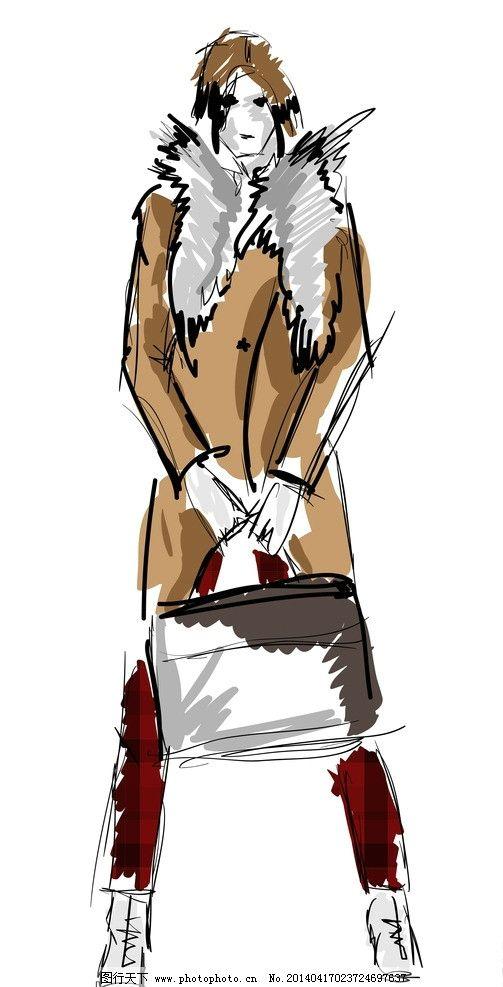 手绘服装设计 潮流 设计 性感 时装手稿 女孩 女人 时尚 少女 时髦