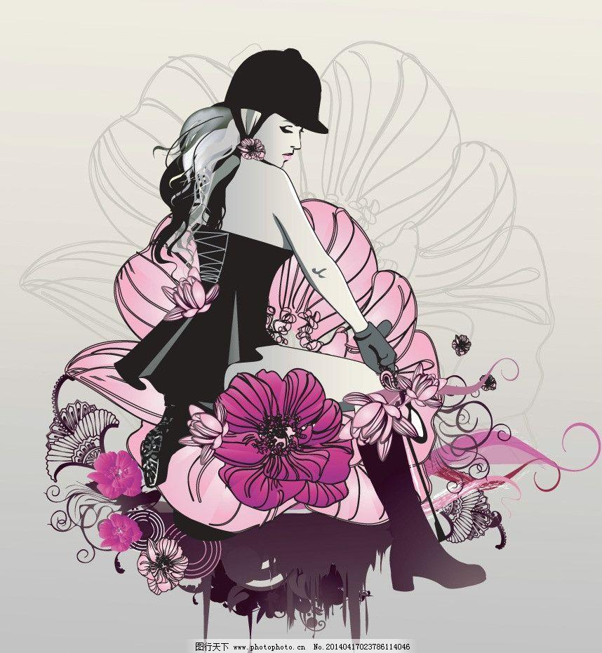 女性 都市美女 青春美少女 裙子 美少女 性感美女 女子 姑娘 手绘 小