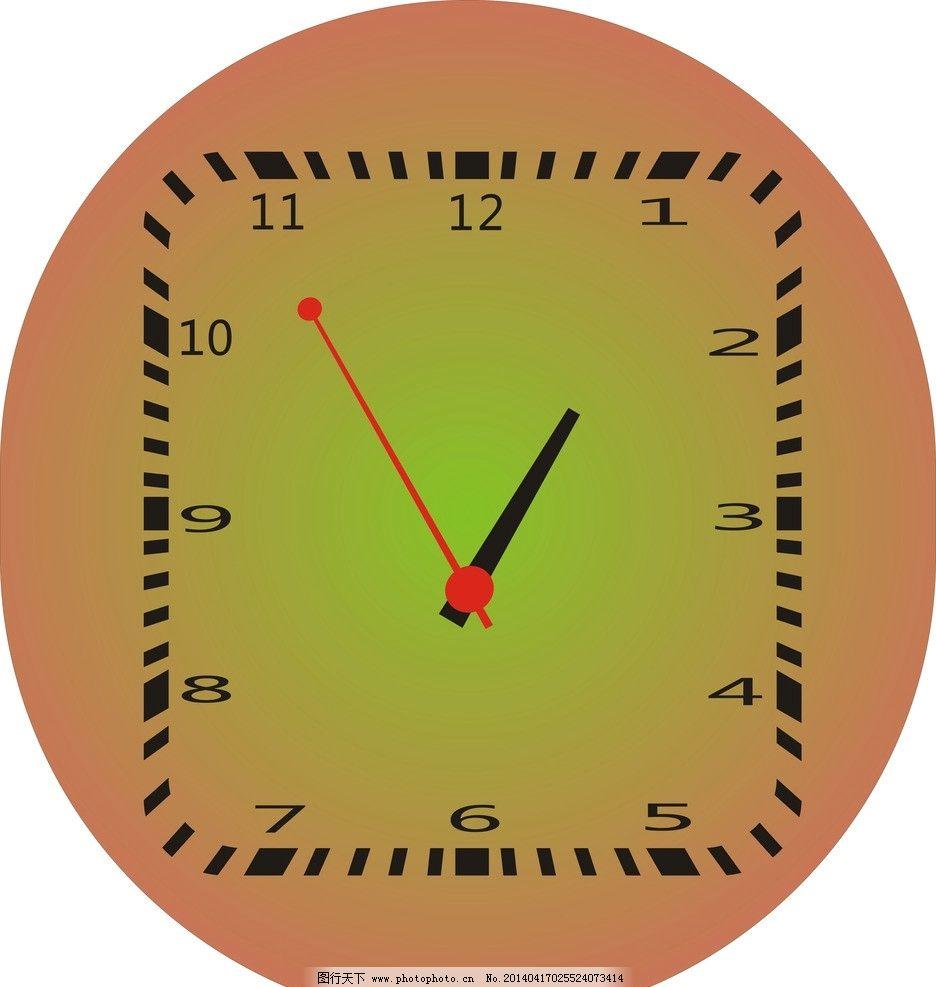 时钟图片,分秒 挂钟 圆钟 数字 矢量-图行天下图库