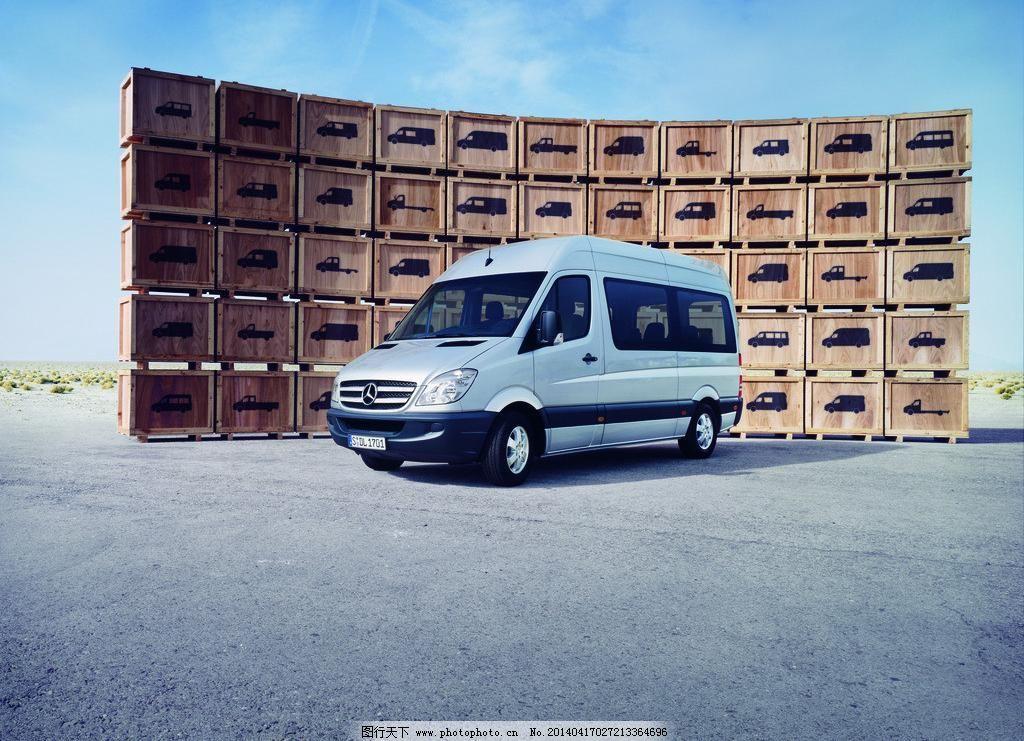 奔驰商务车创意广告模板下载