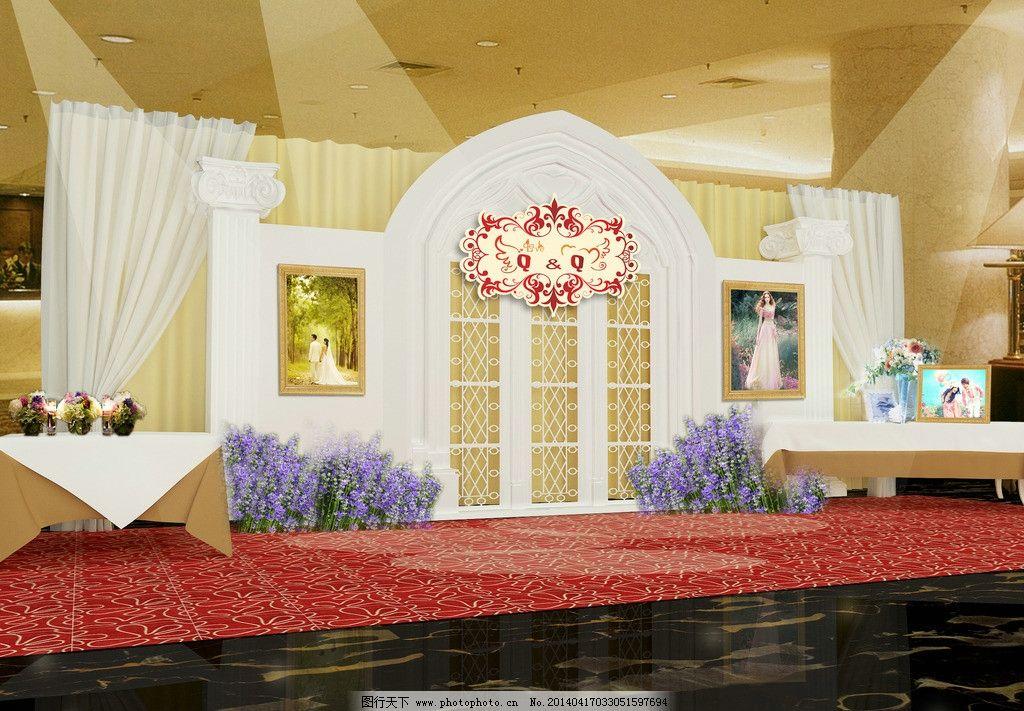 婚礼照片墙 婚庆 照片墙 迎宾 舞台 背景 psd分层素材 源文件 72dpi