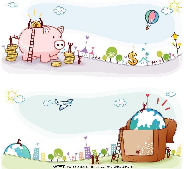 卡通图案 卡通印花 动物印花 梦幻乐园 卡通乐园 儿童绘画 幼儿绘画