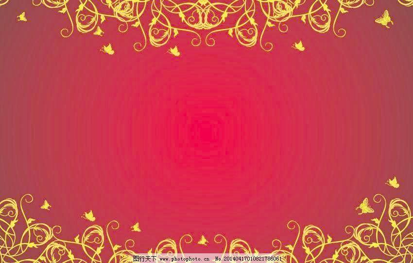 边框 红色花纹矢量素材 红色花纹模板下载 红色花纹 背景 红色 欧式花