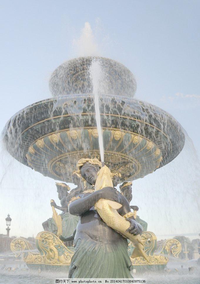 欧式喷泉实景图