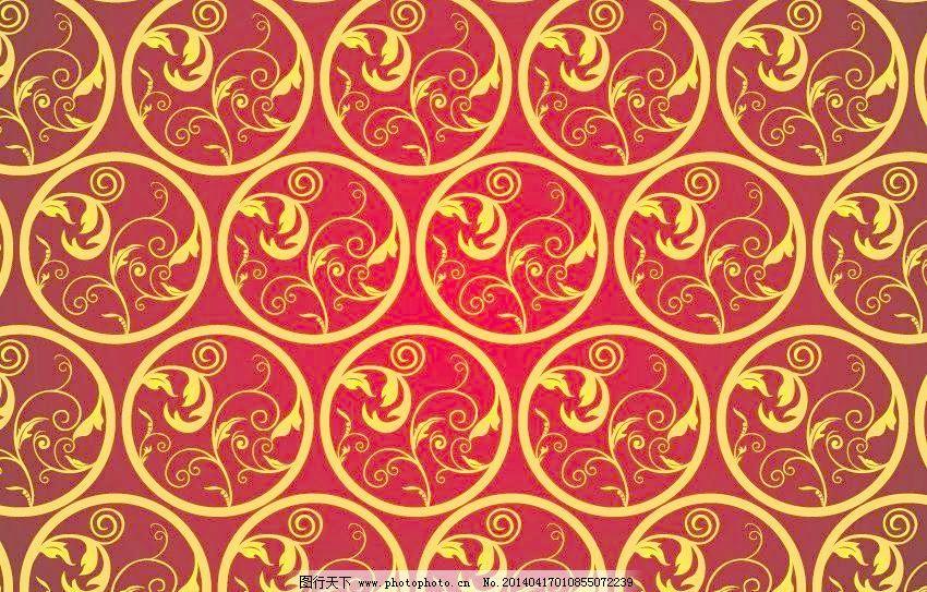 边框 古典 红色花纹矢量素材 红色花纹模板下载 红色花纹 红色 欧式花