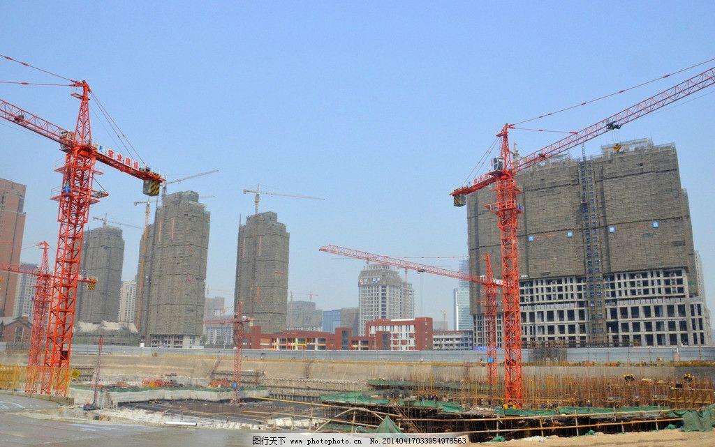 工地 塔吊 现场 施工 建筑 旅游 国内旅游 旅游摄影 摄影 300dpi jpg