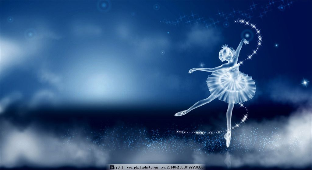 蓝色唯美芭蕾舞女孩免费下载 芭蕾舞 公主 蓝色 女孩 唯美 蓝色 唯美