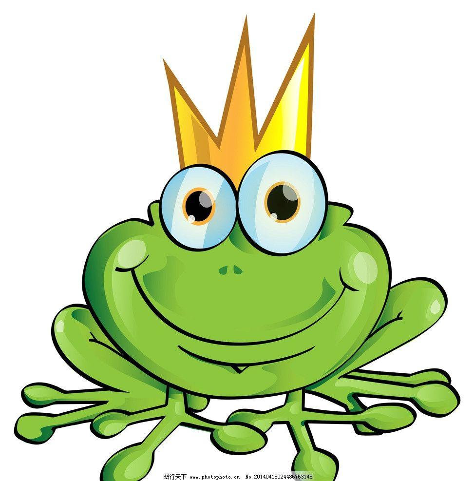 青蛙王子 手绘 卡通 童话世界 可爱 矢量素材 生物世界 eps 野生动物