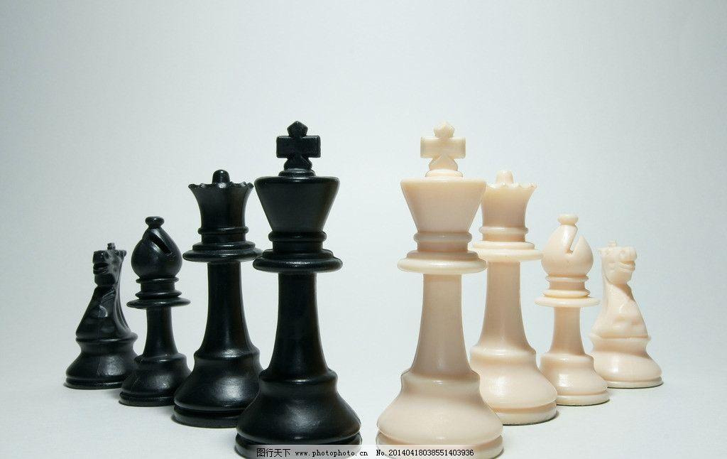 国际象棋 棋子 设计素材 黑白棋子 对弈 传统文化 文化艺术 摄影 350