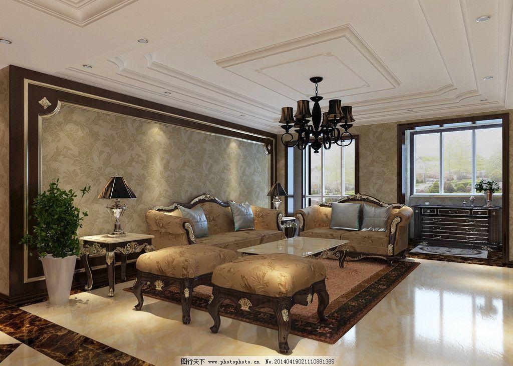 欧式客厅 欧式      拼花 实木 深色 过廊 背景墙 3d设计 设计 72dpi