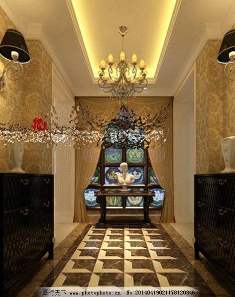 欧式玄关效果图 欧式 复式 跃层 简欧 玄关        装饰设计 吊顶