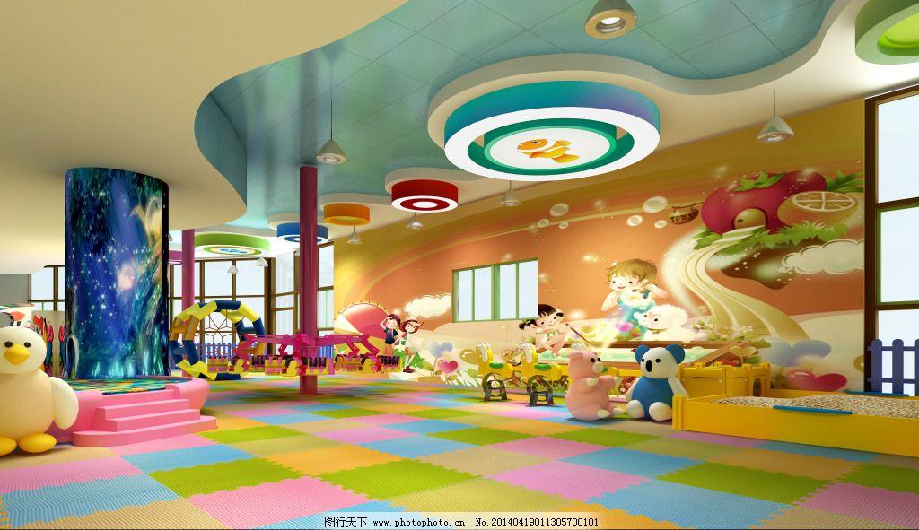 幼儿园绿色墙毡的中国文化装饰图片室内
