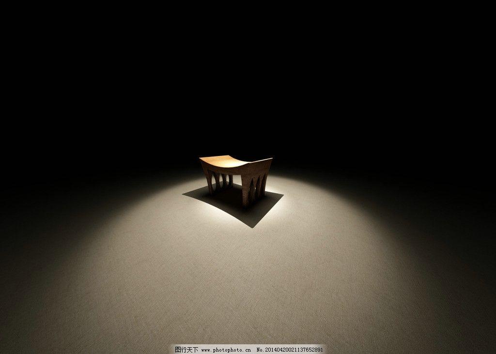 意境凳子桌面背景图片