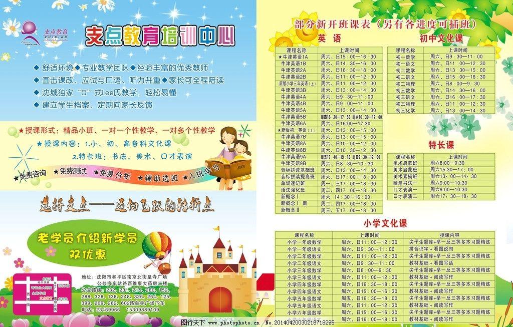 教育培训班 教育 培训 英语 传单 小学生 阳光 天空 卡通 城堡 星光