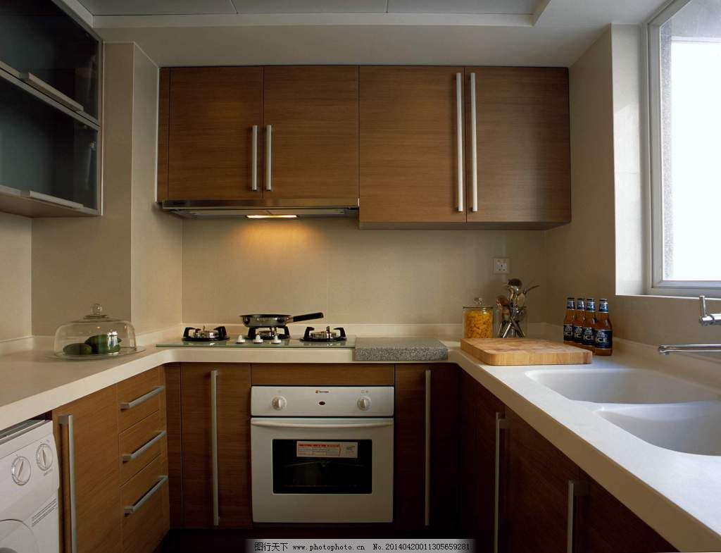 厨房设计 厨房设计免费下载 柜子 室内 原木 装修 家居装饰素材