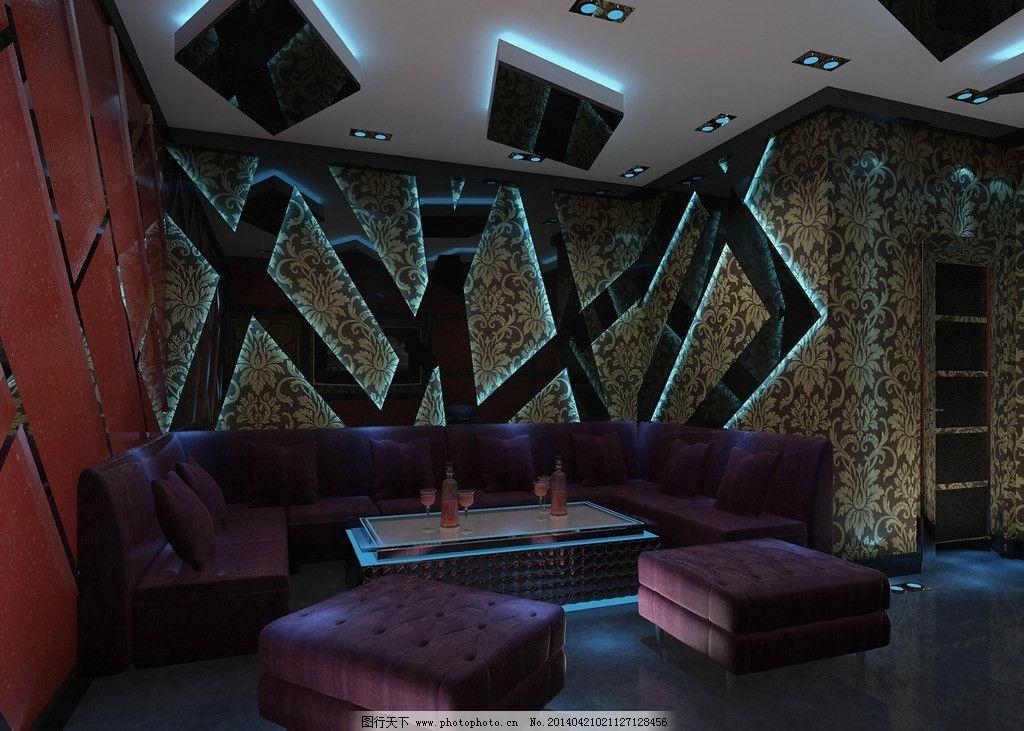 包厢效果图 包厢 ktv 酒吧        ktv效果图 酒吧效果图 3d作品 3d