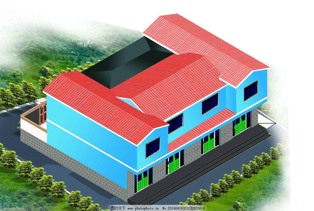 农户住宅小二楼 甘肃农户校园效果图 混结构二层楼房 适合小家庭居住