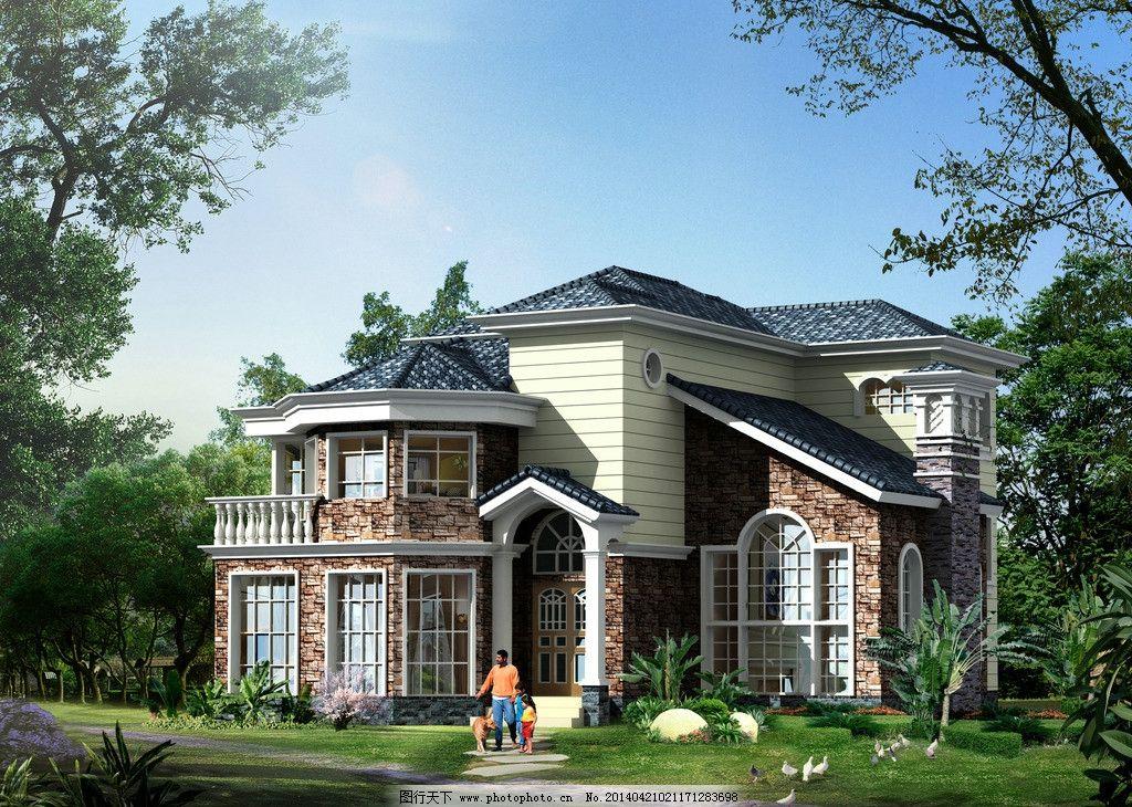 某别墅效果图 别墅 室外 建筑 外立面        3d作品 3d设计 设计 200