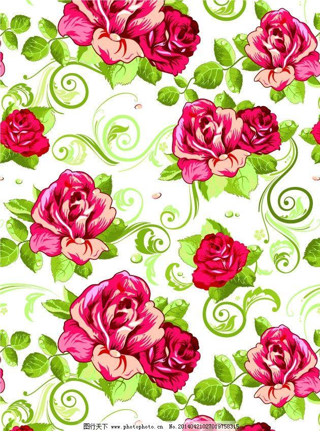 玫瑰花 藤蔓 窗帘布艺 床上用品 壁纸 古典花纹 古典花朵 花朵