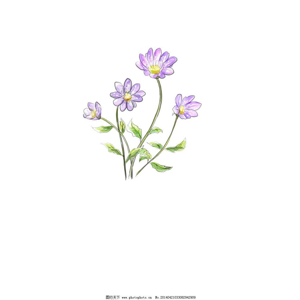 素描花朵素材免费下载 花朵 矢量花 小花 装饰 矢量花 花朵 装饰 小花