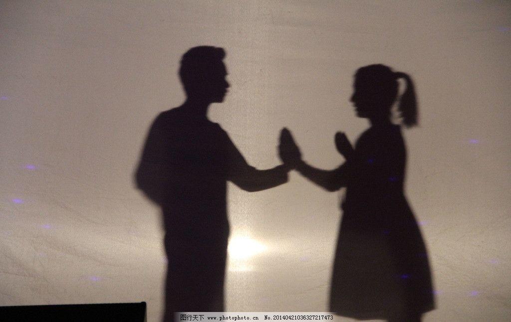 影子 剪影 人物 黑白 爱情 光影 人物摄影 人物图库 摄影 72dpi jpg