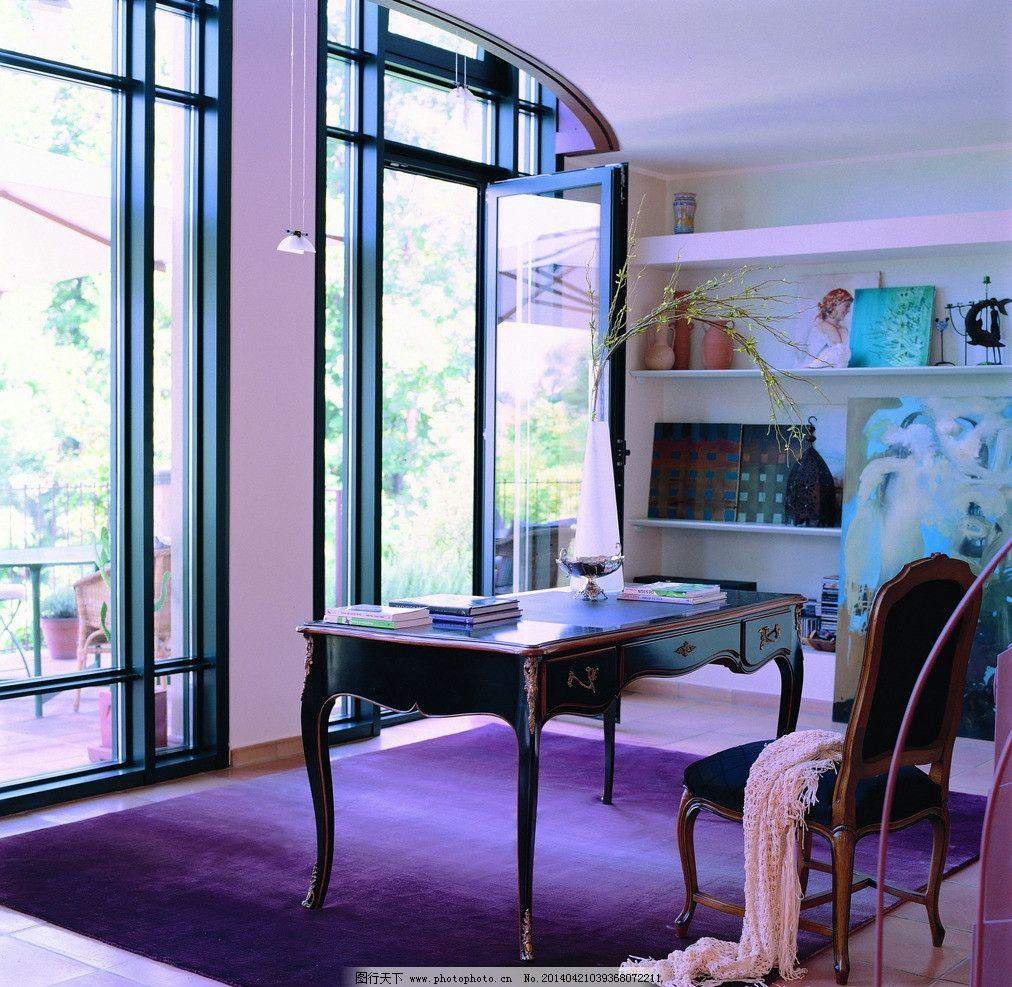 欧式书房 家具 欧式书桌 欧式家具 摆设 装饰品 工艺品 软装