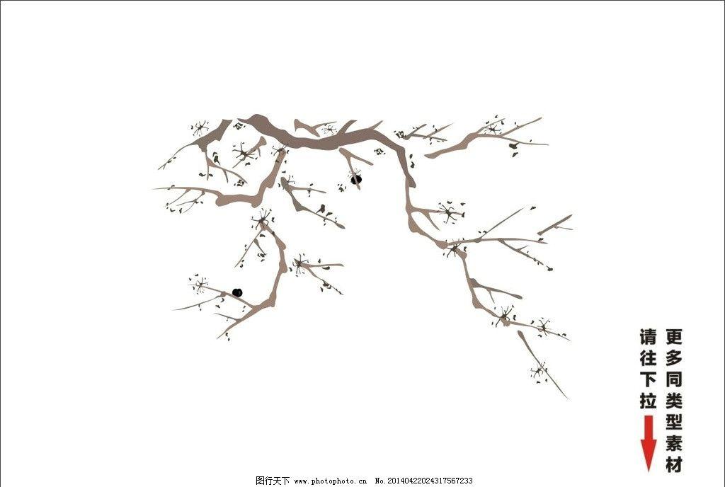 竹子的景观手绘画法
