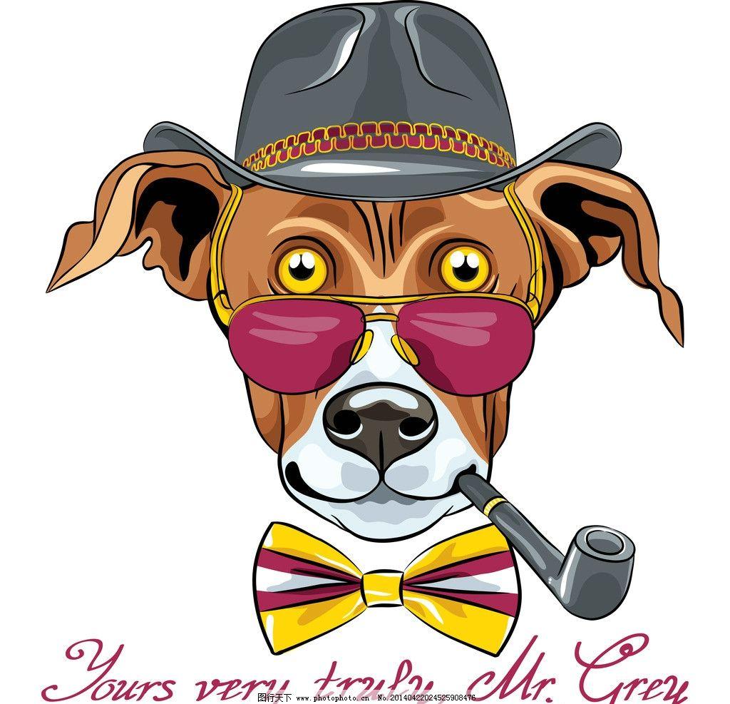 狗动物插画手绘