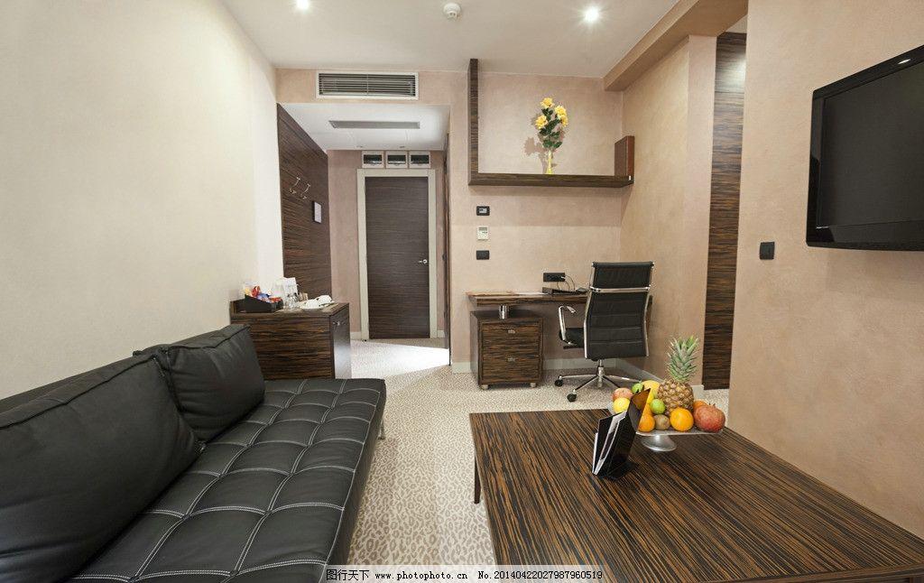 设计图库 环境设计 室内设计  客厅设计 木地板 沙发 电脑 室内设计