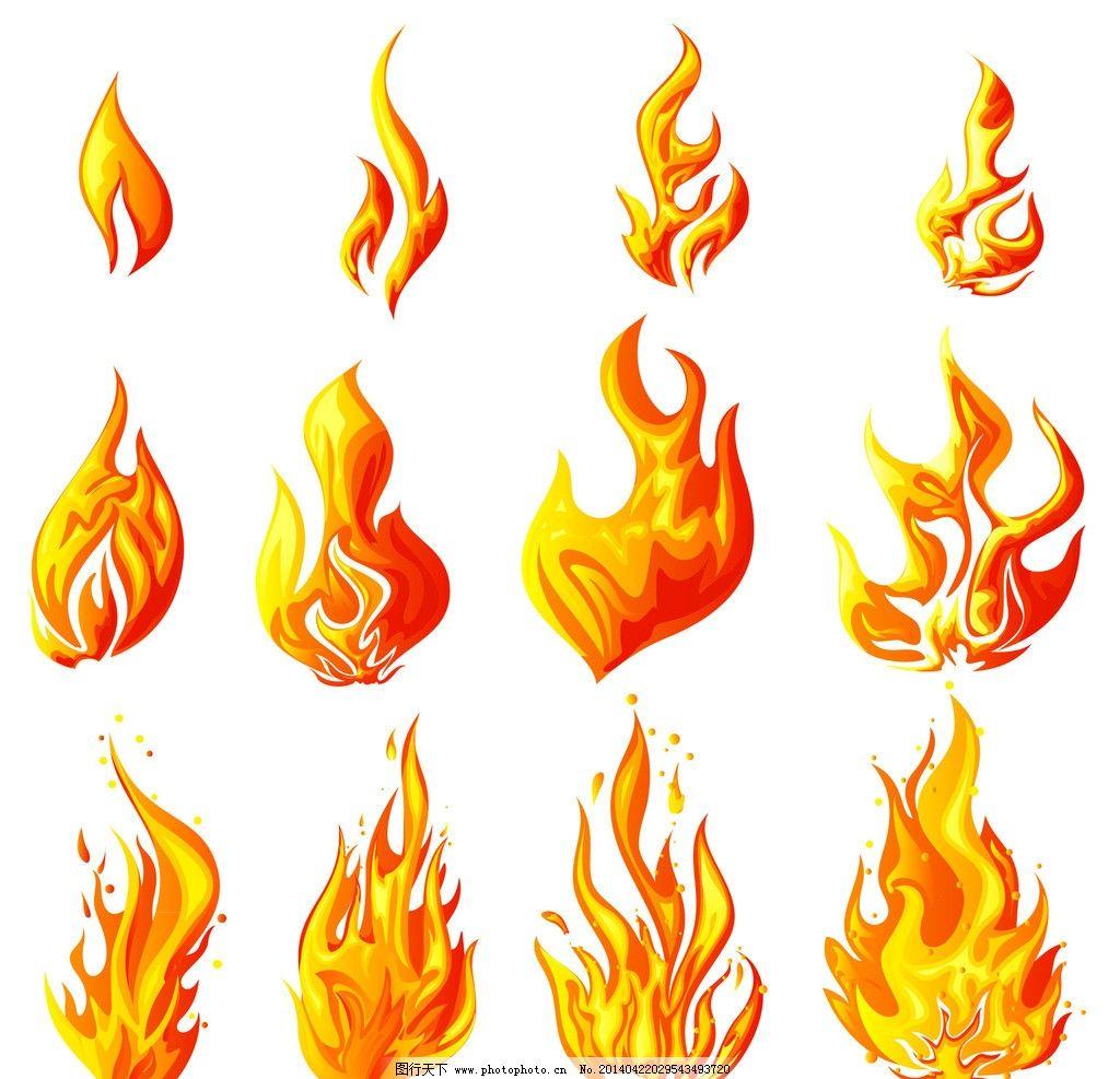 火焰 燃烧火焰 火苗 火势 手绘 大火 背景 烈焰 祈祷 祝福图片