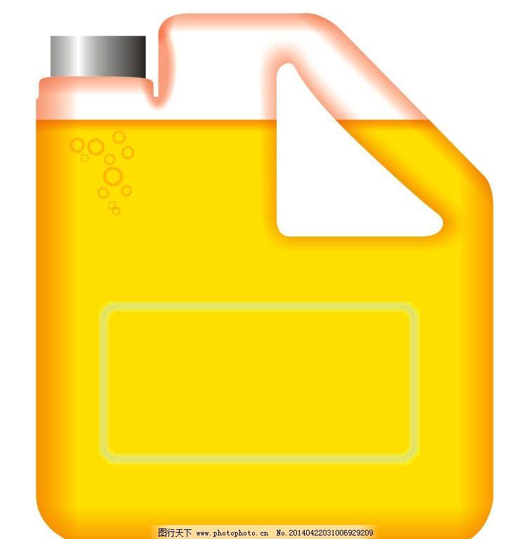 瓶子 塑料桶 cdr 矢量 菜油瓶 橘色 液体 高清 全矢量 其他设计 广告