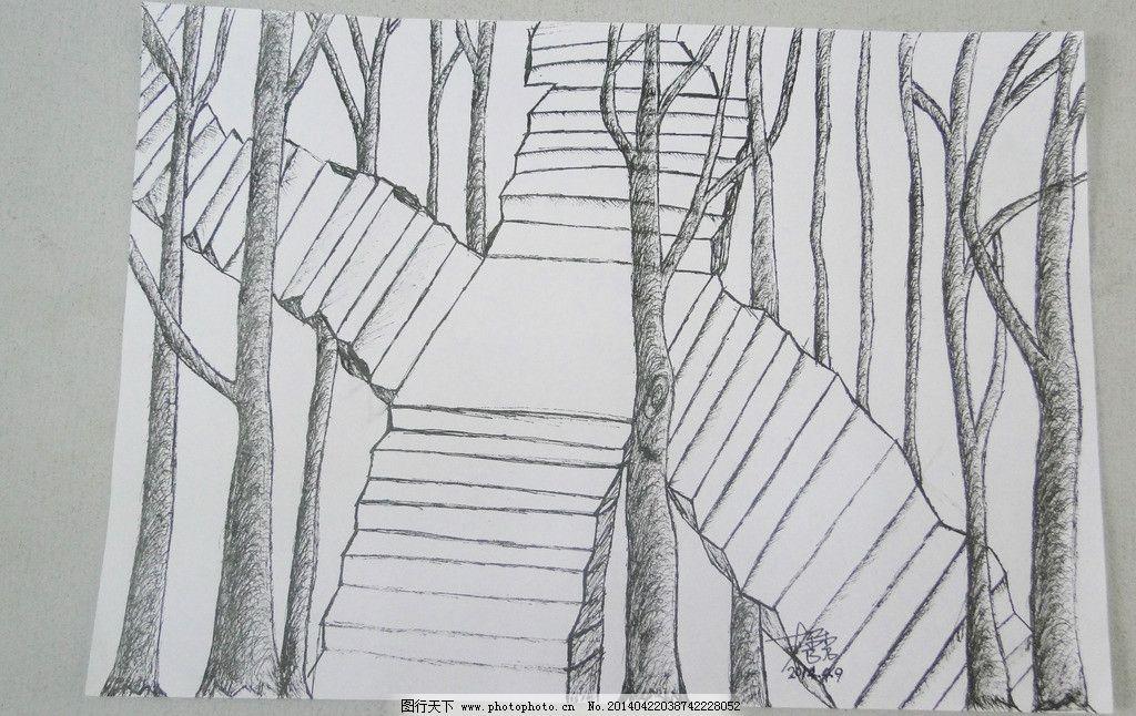 碳素笔画画图片