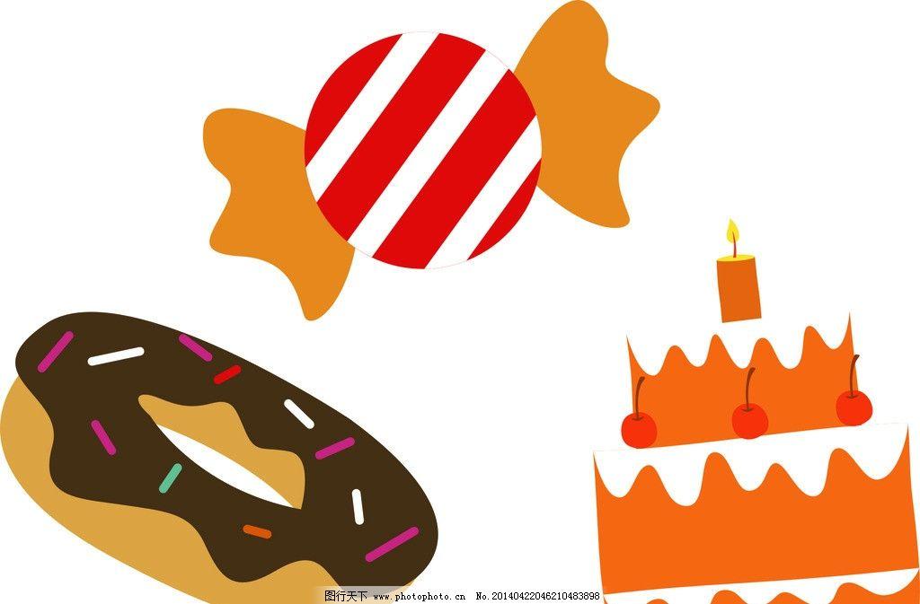 卡通装饰素材 儿童素材 手绘 铅笔画 幼儿园素材 设计 素材 卡糖果
