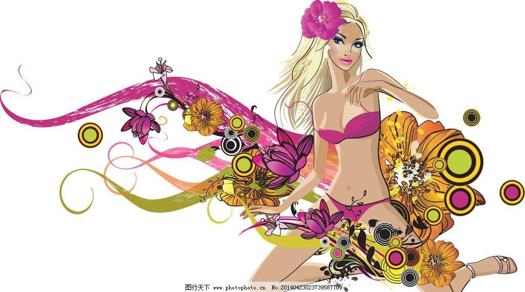 时尚少女 手绘少女 手绘服装设计 潮流 设计 性感 时装手稿 女孩 女人