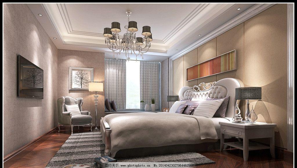 温馨卧室 现代 床铺 简欧 新古典 欧式 家庭图片