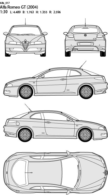 alfa romeo 汽车设计平面图