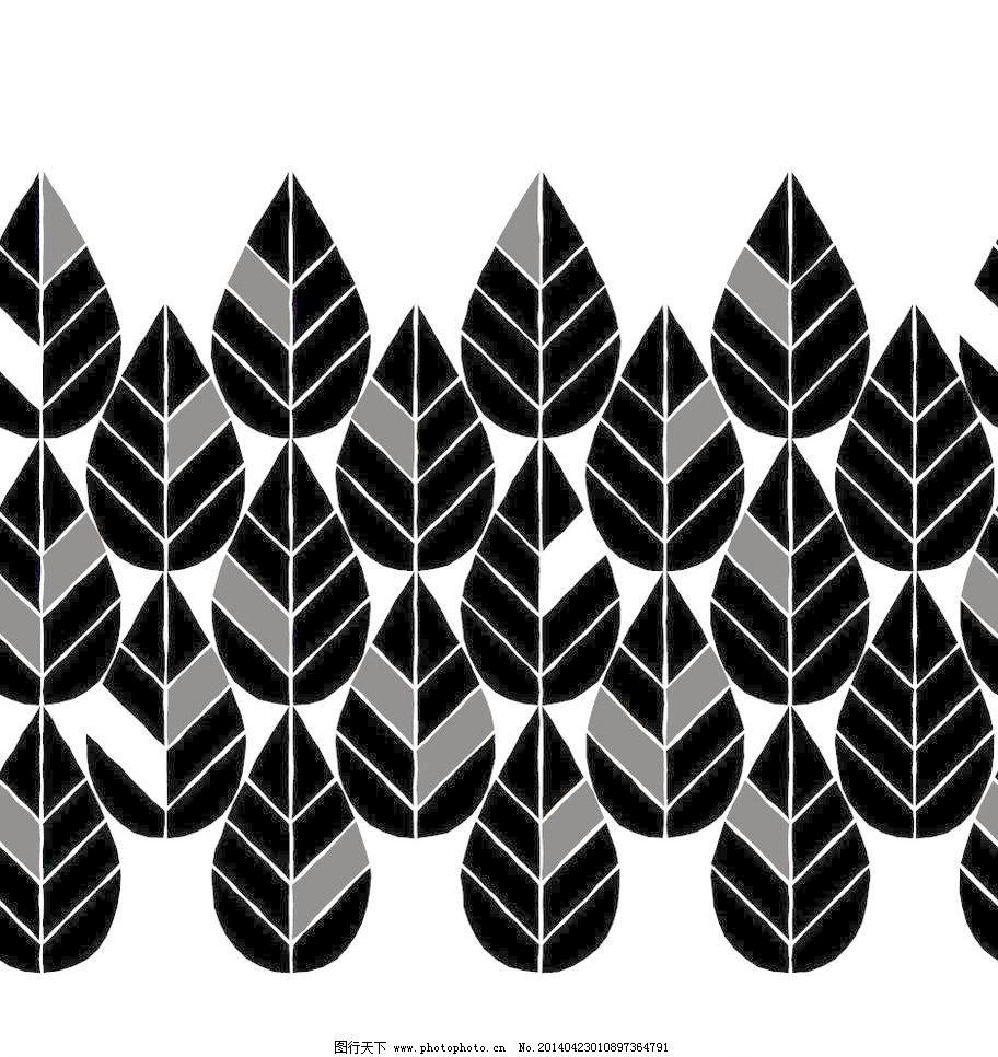 简洁图案 欧式花边 树叶矢量素材 树叶模板下载 树叶 叶子 植物 花纹