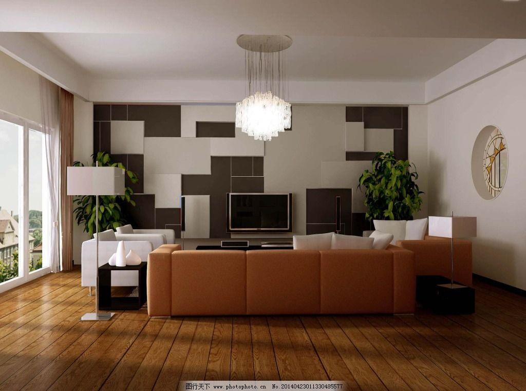 木地板 室内 书房 背景墙 书房 木地板 室内 电视背景墙 家居装饰素材