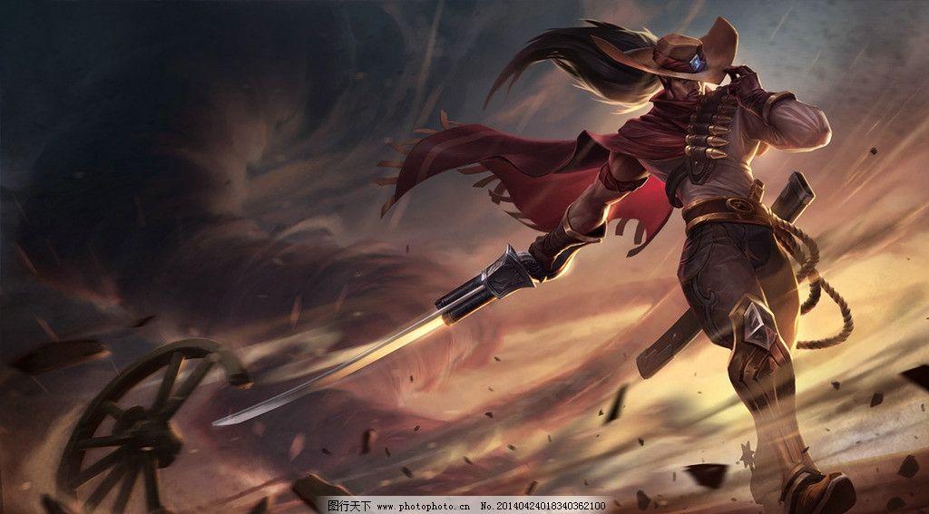 亚索 剑豪 西部牛仔 剑 英雄联盟 yasuo lol 游戏 英雄 动漫 动漫人物
