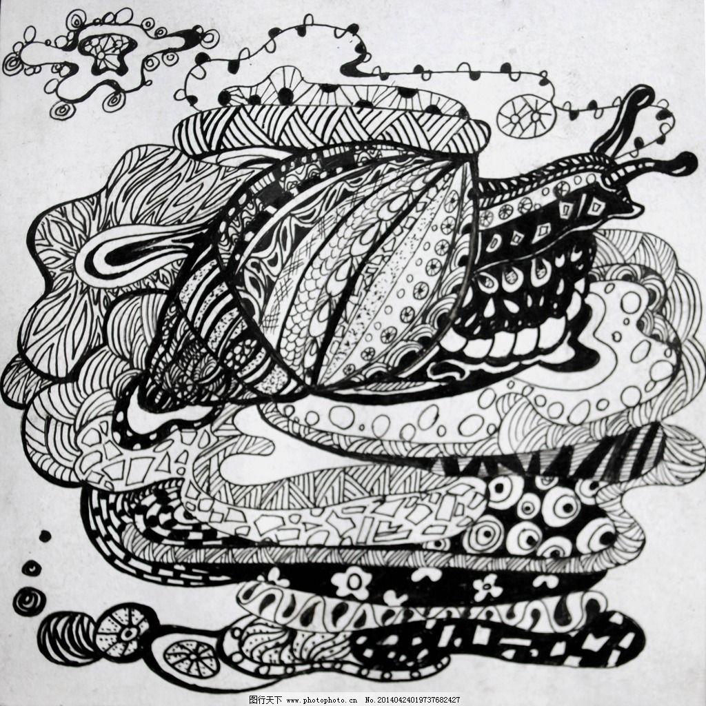 插画蜗牛 插画蜗牛免费下载 创意插画设计 动漫 动漫动画 线描