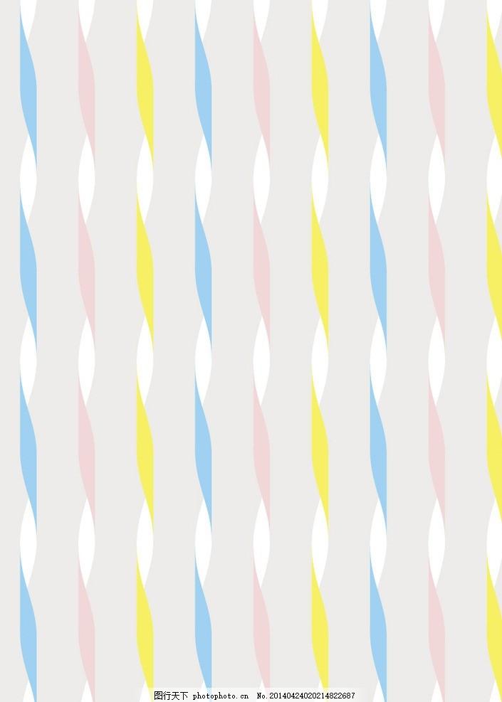 彩色条纹 花纹 草莓 图案 线条 印花 花布 艺术布 纹理 印染花纹图片